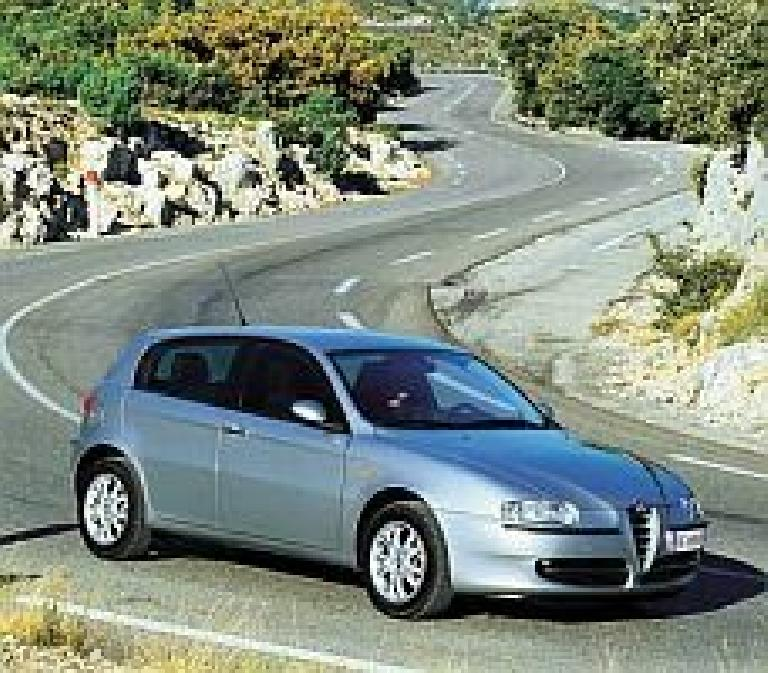 "Alfa's 5-door hatchback... what can I say except ""elegant""?  ""Beauty is not enough"" is Alfa's motto.  (From the alfaromeo.com website.) (August 17, 2003)"