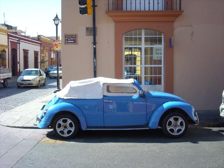 A custom Volkswagen Beetle in Oaxaca.