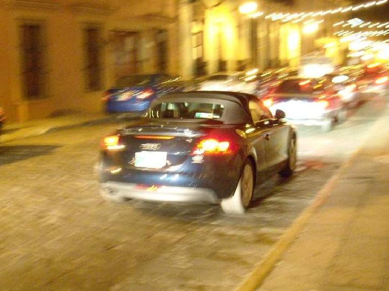 I saw a couple second-generation Audi TTs, including a coupe and this roadster. (December 19, 2009)
