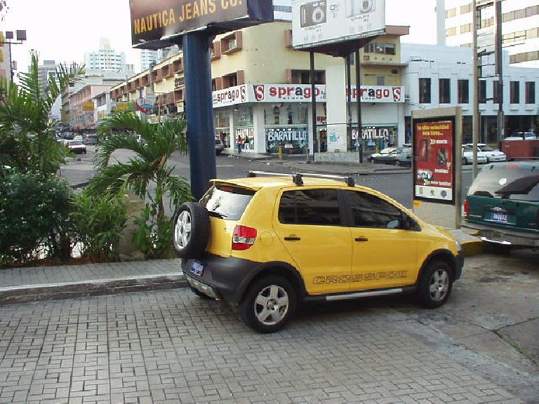 Volkswagen Crossfox - based off of a VW Fox, but made more SUV-like. (March 10, 2007)