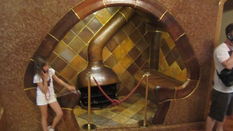 Mushroom fireplace.