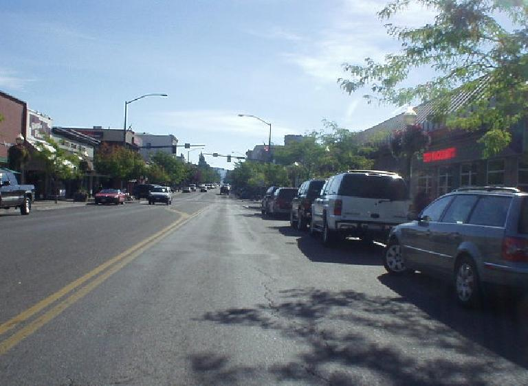 "Downtown Coeur d'Alene is somewhat quiet on a regular day, and ""virtually abandoned"" in winter according to Deborah."