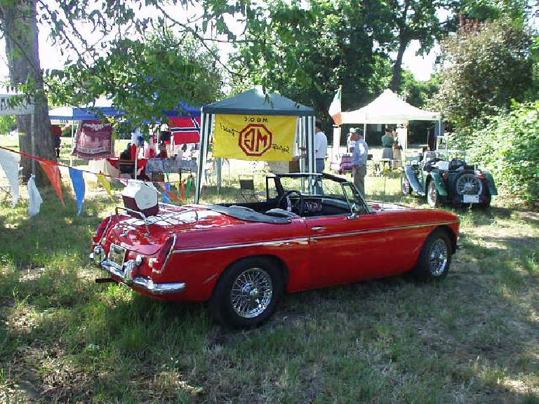 Bob Stine's 1968 MGB roadster, which was painted Corvette Red in 1998.