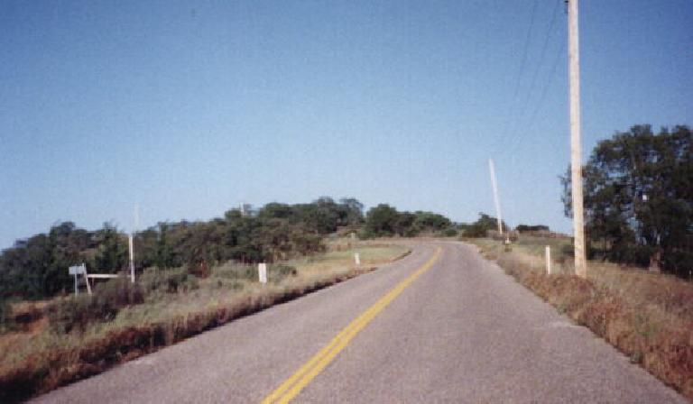 winding road, trees, yellow grass, 1999 Central Coast Double Century