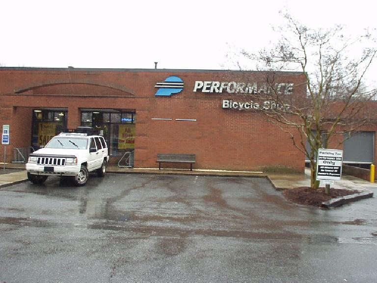 Performance Bicycle Shop, the bicycle shop I frequent most in Fremont, is headquartered in Chapel Hill!  However, it is about 15 miles away from the one we went to.
