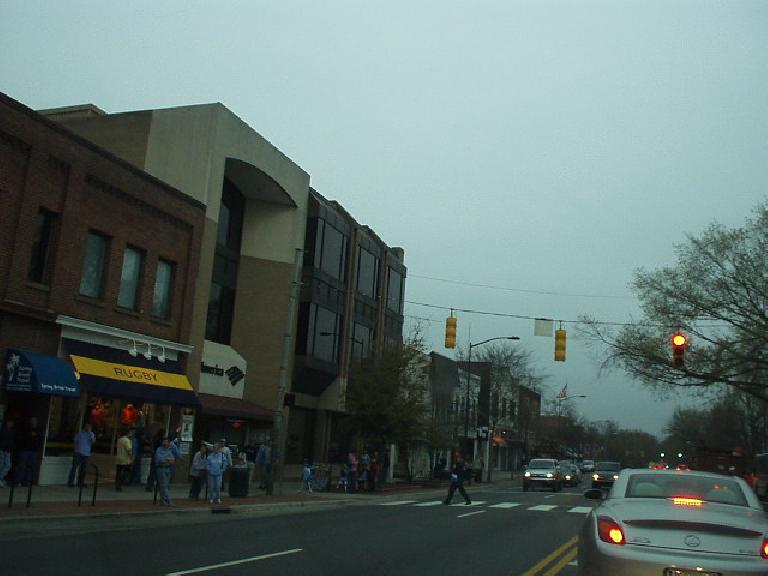 A view of downtown Chapel Hill, which is mainly a few blocks along Franklin Street near UNC.