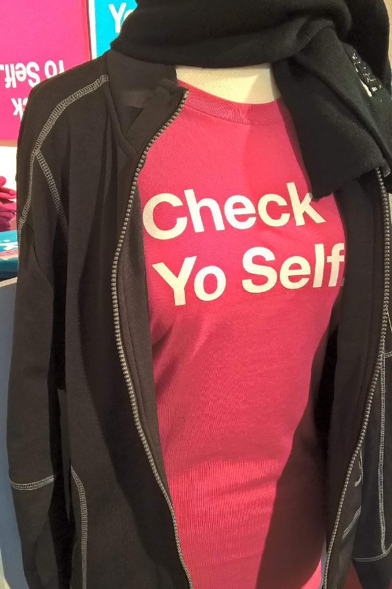 pink Check Yo Self shirt