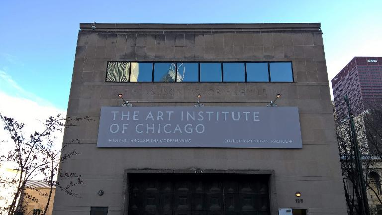 Art Institute of Chicago sign.
