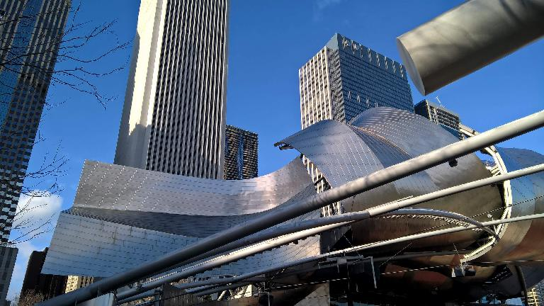 Steel architecture at Millennium Park.