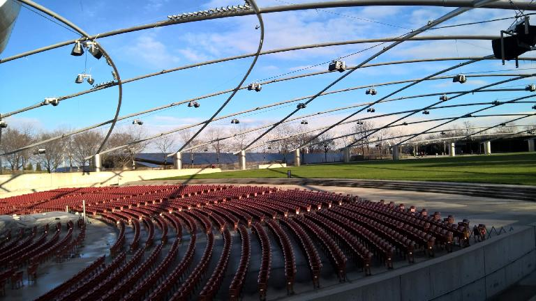 Outdoor amphitheater at Millennium Park.