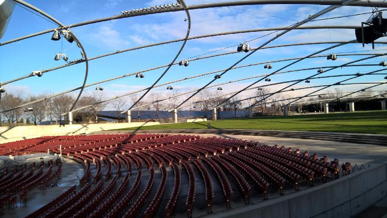 Outdoor amphitheater at Millennium Park.