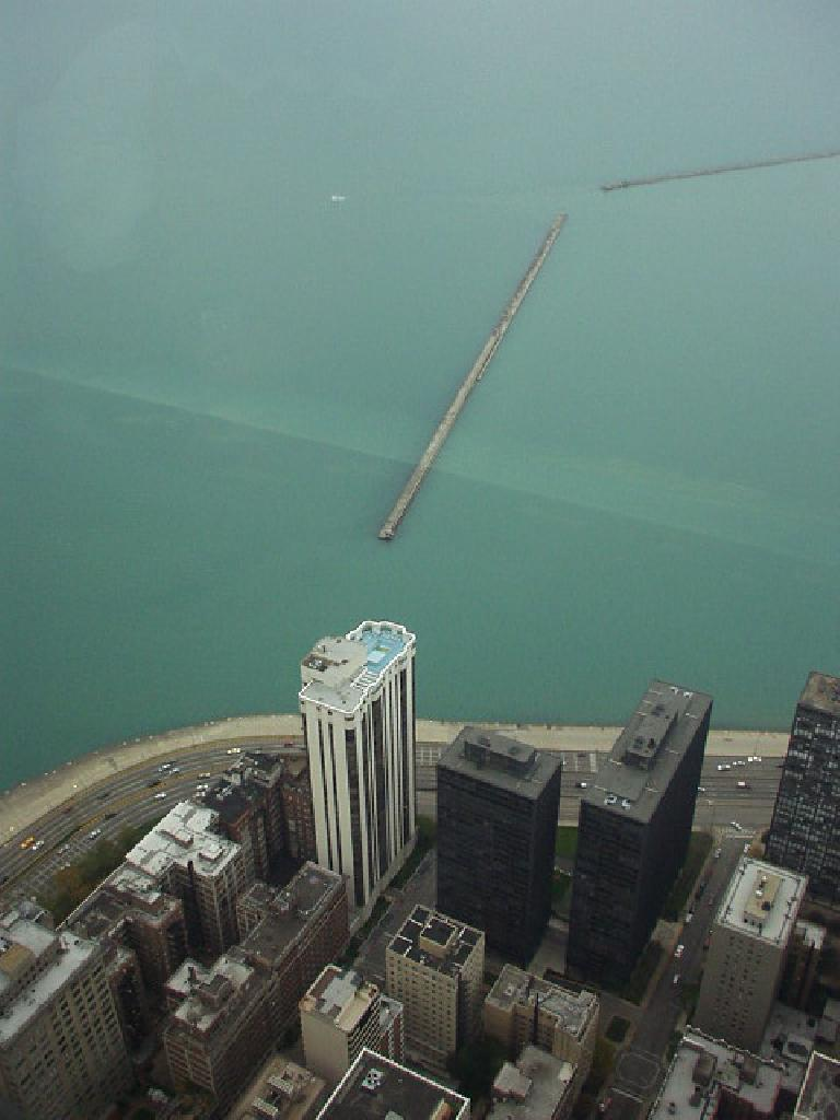 We went to the top of the Hancock Observatory where there were some great views of Lake Michigan...
