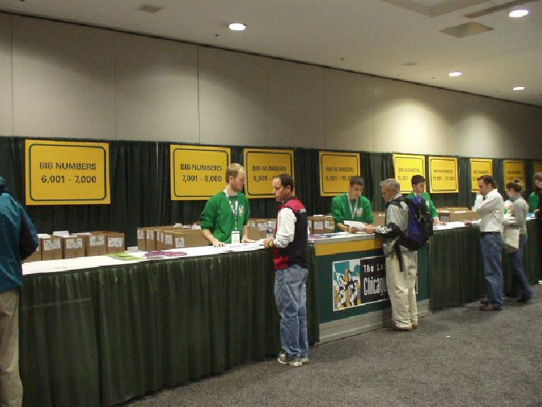 The expo for the Chicago Marathon was absolutely huge.  This is where we picked up our registration materials. (October 21, 2006)