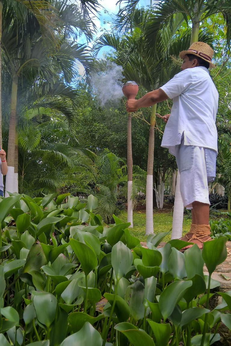 Mayan priest burning incense, Zaci-Val