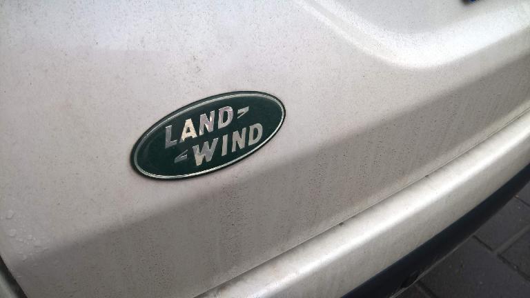 Land Wind emblem on white SUV