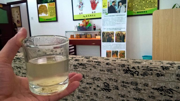 A Chinese medicinal tea derived from mushrooms.