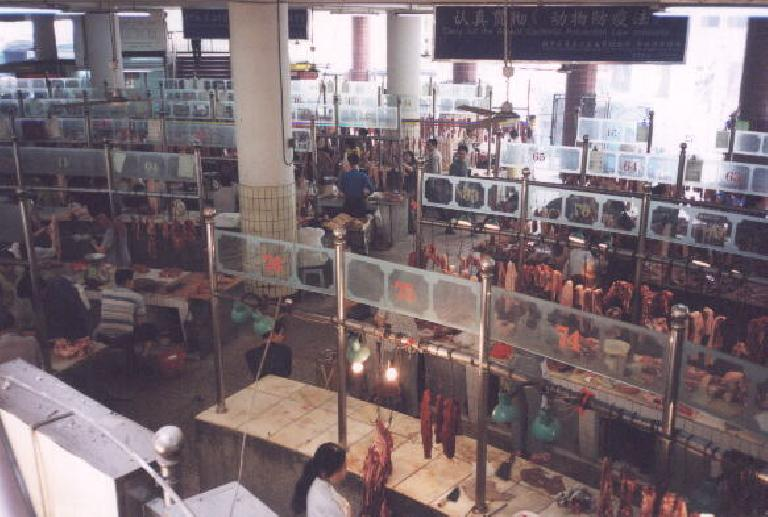 An indoor food mall in Chongqing.