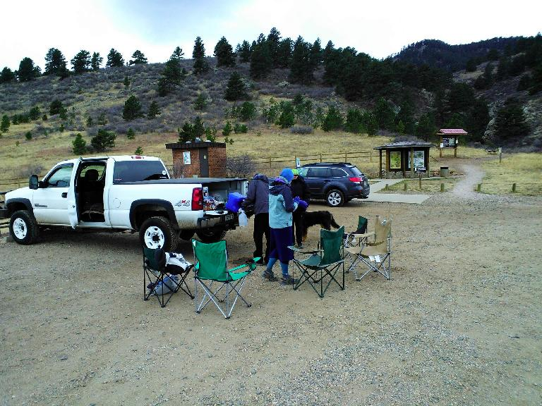 [Mile 12.9] Aid Station in Lory State Park.