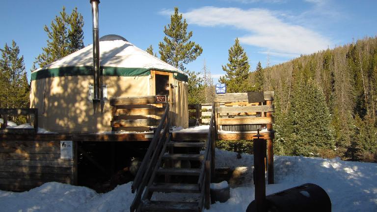 The yurt in the morning. (November 3, 2013)