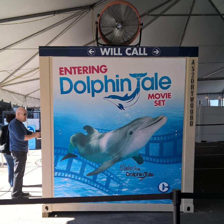"""Entering Dolphin Tale movie set""---the entrance of the Clearwater Marine Aquarium."