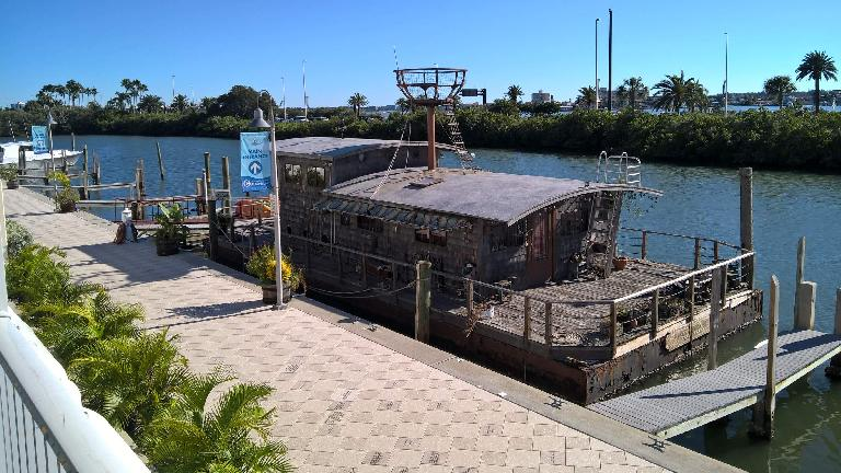 An old boat outside the Clearwater Marine Aquarium.