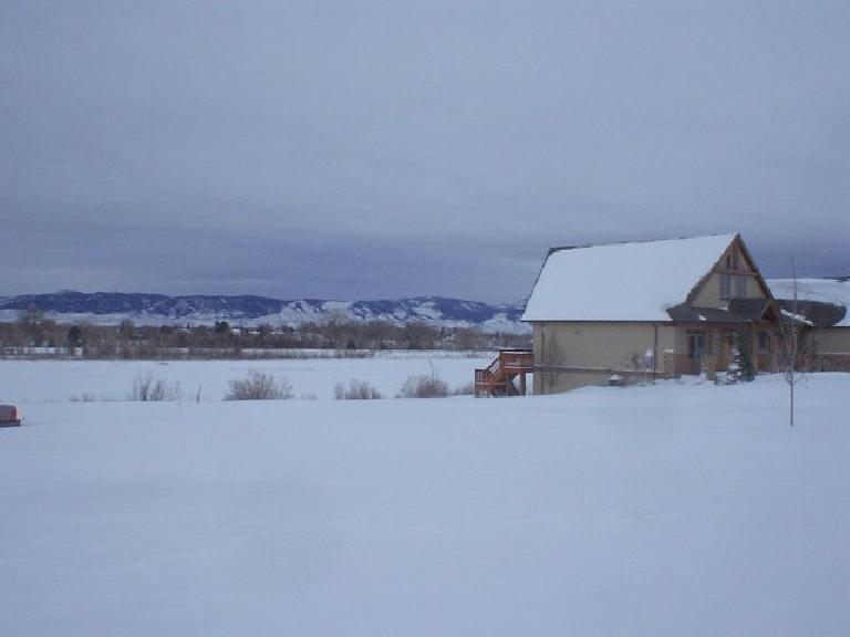 Even Richard Lake had snow on it.