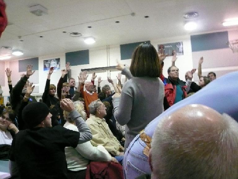 Caucusing in my district in Fort Collins.