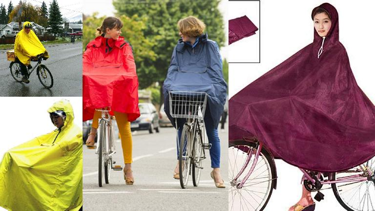 Cycling capes---perhaps useful when rain never ends?