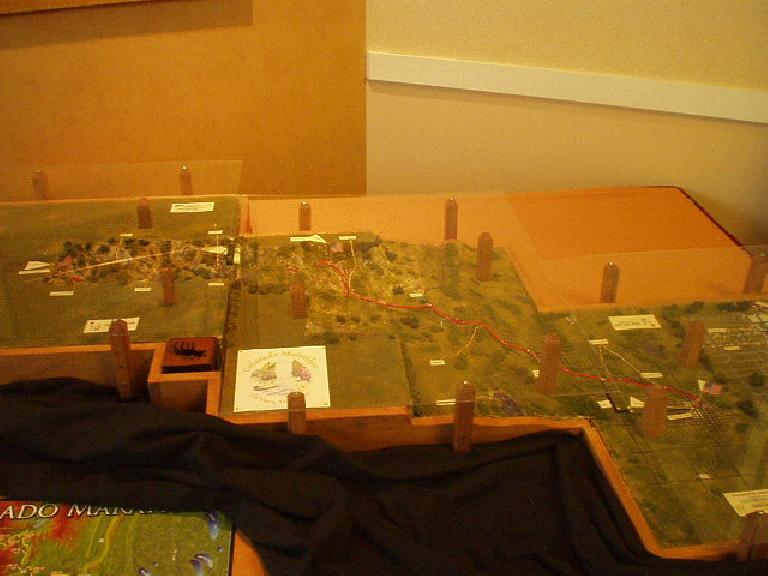 A model of the marathon course. (May 5, 2006)