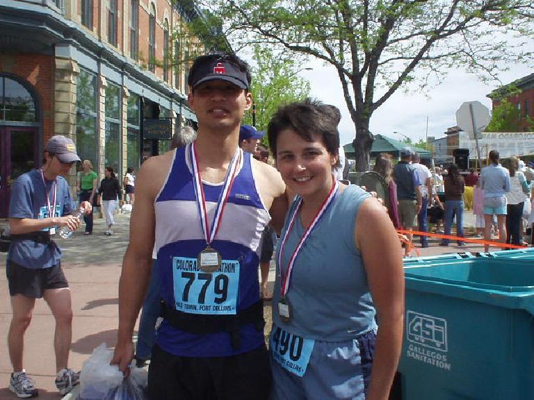 Felix Wong and Chris, two finishers of the marathon.