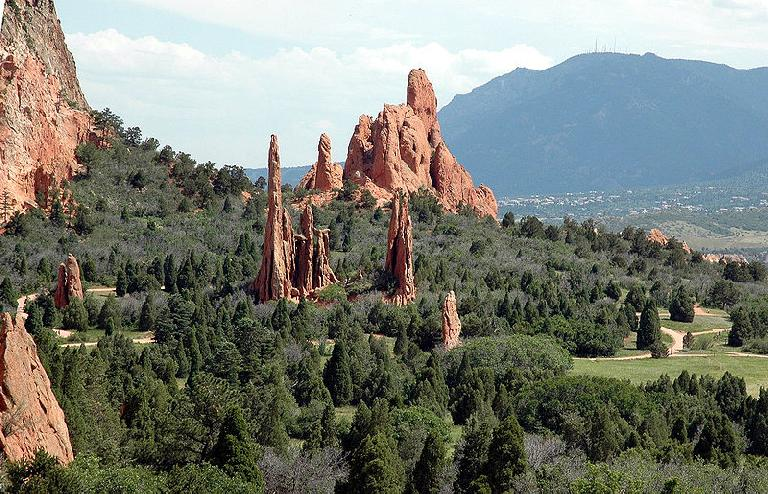 [Mile 190, 7:20 p.m.] Garden of the Gods. Photo: Wikimedia.