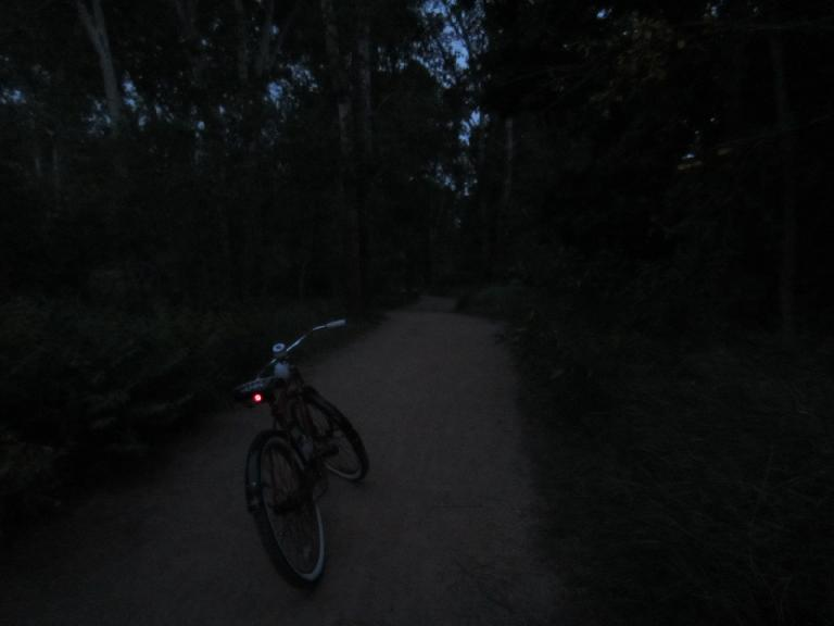 [Day 1, Mile 143, 8:06p] Getting dark on the New Santa Fe Trail.