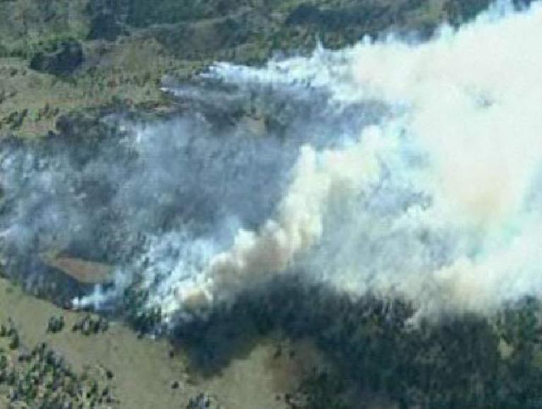 Smoke from the Stuart Hole Fire near Wyoming. (June 4, 2012)