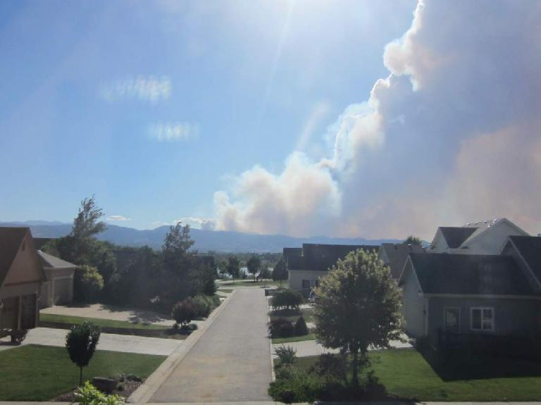 The High Park Fire on Day 1, as seen from my house. (June 9, 2012)