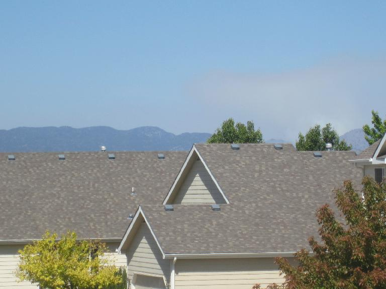 Smoke from the Hewlett Gulch fire. (May 15, 2012)