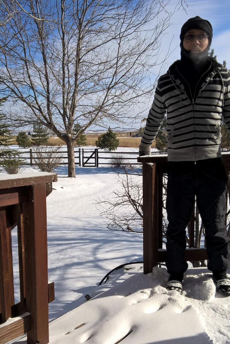 Felix Wong, snow, -1F day, running