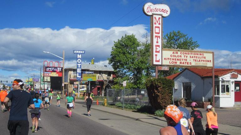 Motels on Colfax Ave., runners in 2015 Colfax Half Marathon