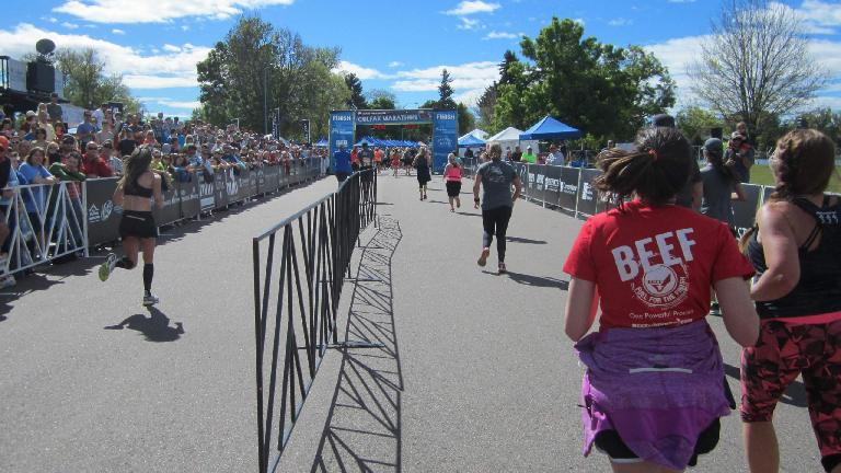 Finishing stretch of the 2015 Colfax Half Marathon.