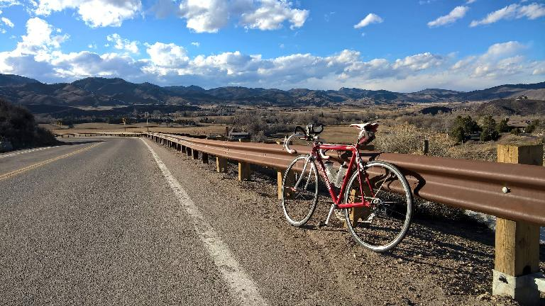 red Cannondale 3.0, Bingham Hill, Fort Collins