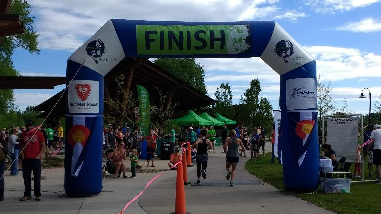 The finish line of the Colorado Run.
