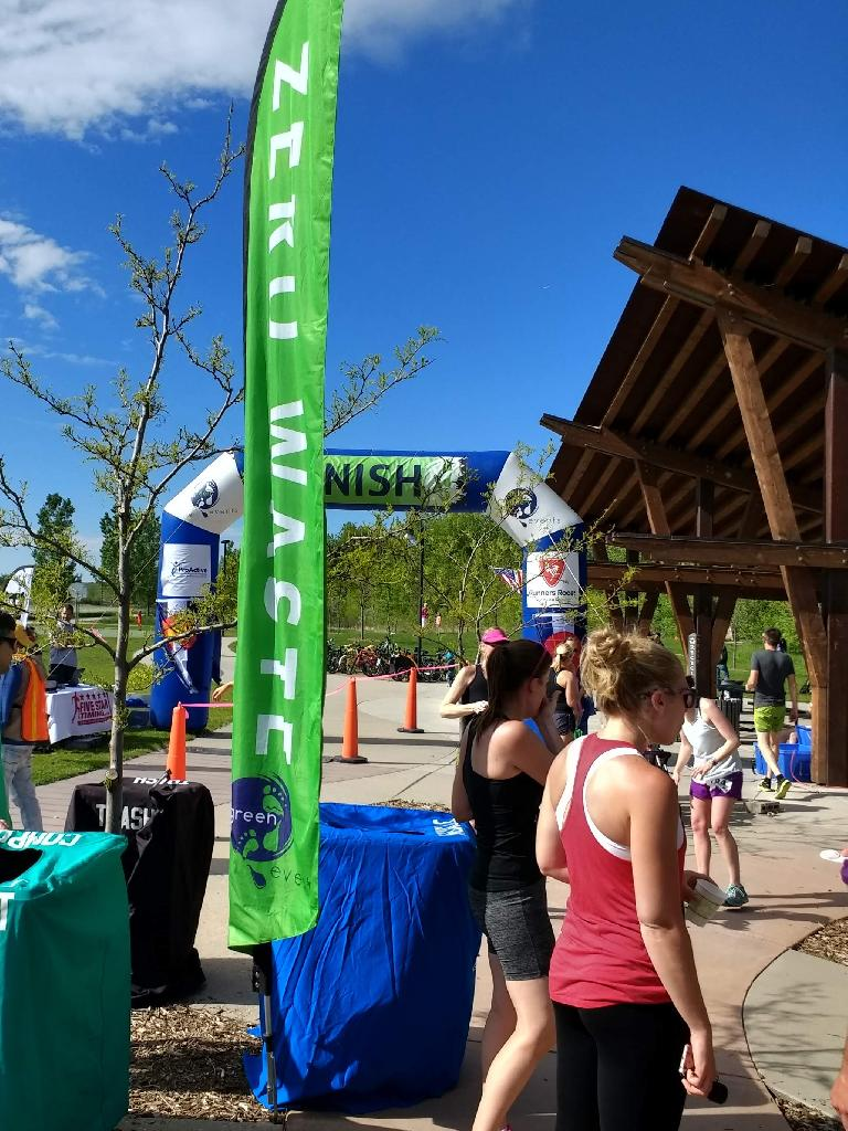 Green Events, the organizer of the Colorado Run nowadays, strives for zero waste.