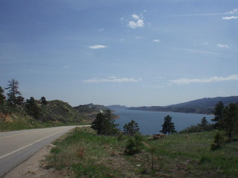 The Horsetooth Reservoir from the top of Dam Hill.