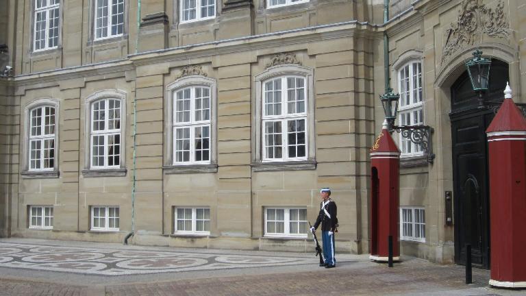 A guard at the Royal Palace.
