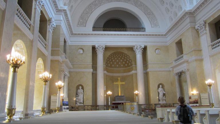 Inside a church in Copenhagen.