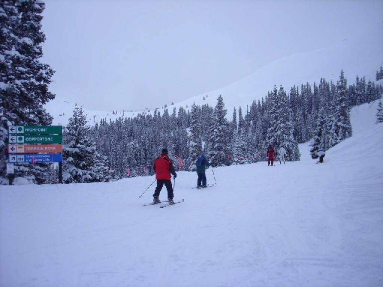There are plenty of green runs at Copper Mountain, most of which are well marked.