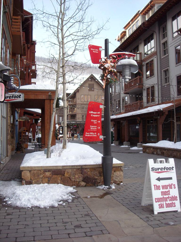 Copper Mountain has a very cool village right next to the lifts.
