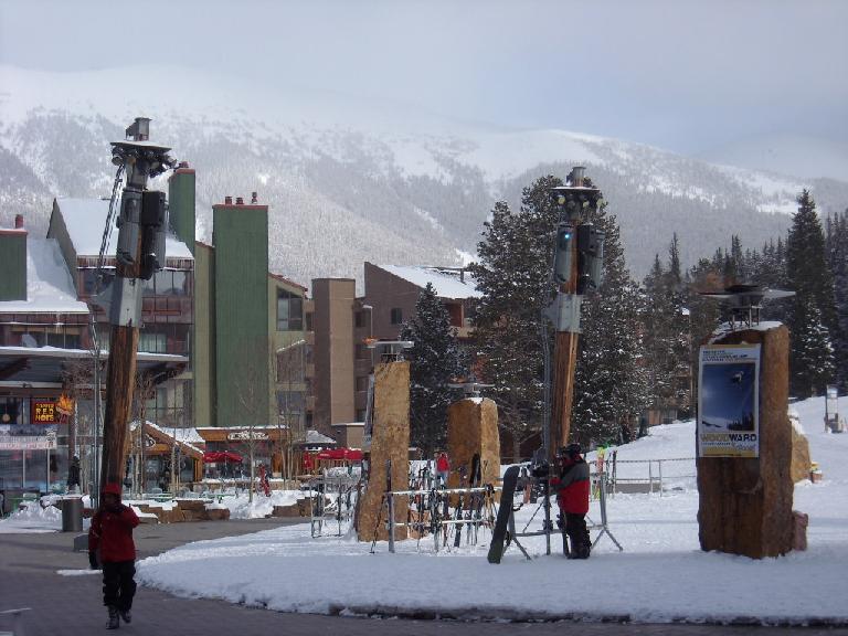 The mountains beyond Copper Mountain Village.