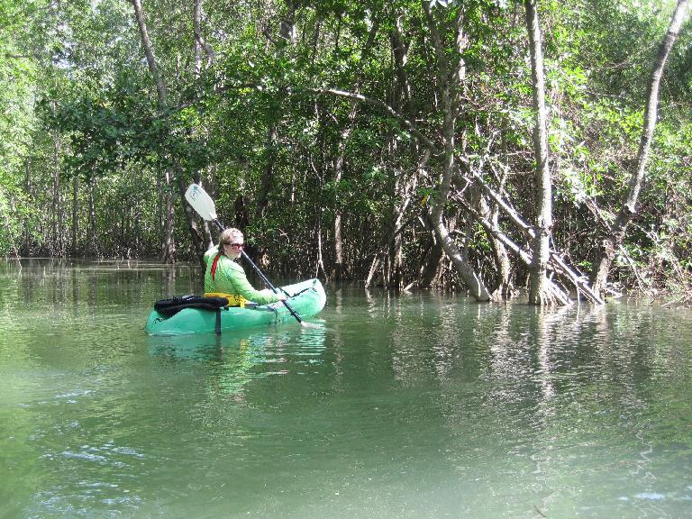 Charis at kayaking. Photo: Tori. (March 19, 2011)
