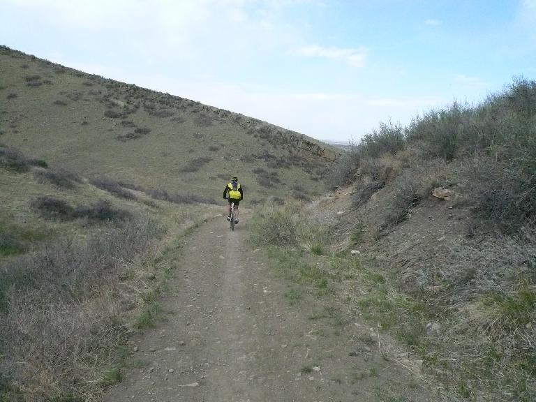 Coyote Ridge is popular with mountain bikers.