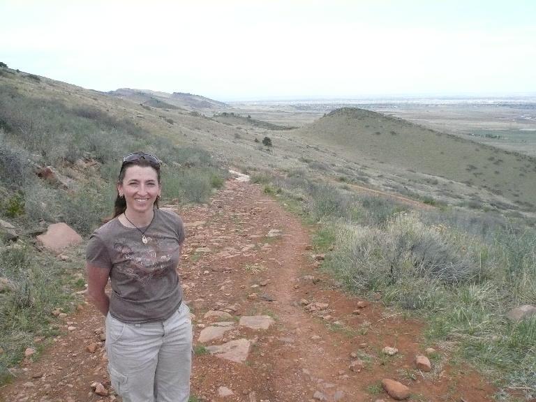Tori on the ridge now.
